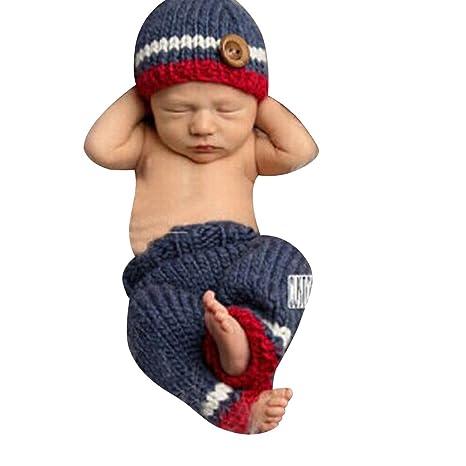 Eleery - recién nacido bebé ganchillo sombrero y pantalones ...