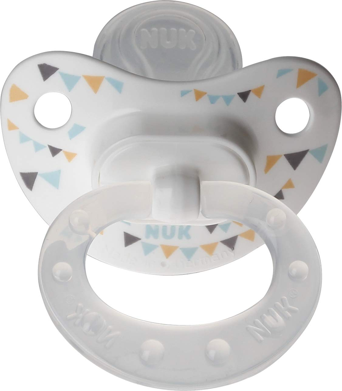 Nuk Orthodontic Trendline BPA Free 18+ Months Dots Pacifiers (2pack) (Blue)