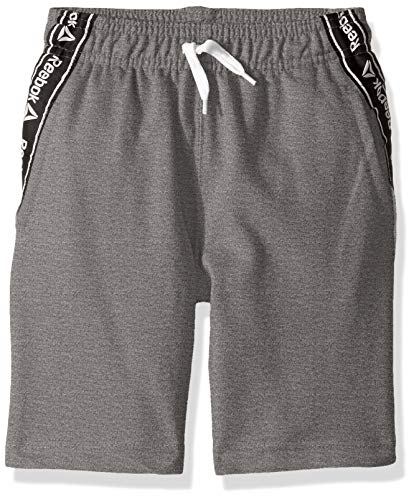 - Reebok Boys' Big French Terry Luxe Short, Striped Taping Dark Heather Grey 14/16