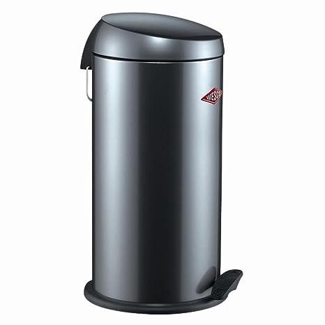 Wesco Base Softer Bad Abfalleimer Treteimer Mülleimer Graphit Stahlblech 13 L