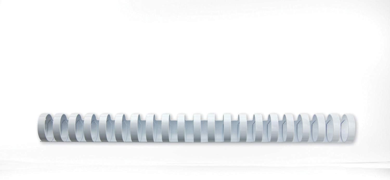 GBC 4028610 - Canutillo plástico DIN A4 21 anillas 16 mm (caja 100) color blanco