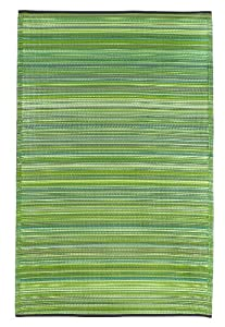 Amazon Fab Habitat Cancun Indoor Outdoor Rug Green