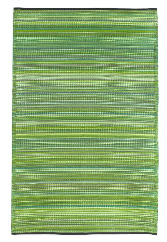 (Fab Habitat Reversible Rugs | Indoor or Outdoor Use | Stain Resistant, Easy to Clean Weather Resistant Floor Mats | Cancun - Green, (6' x 9'))