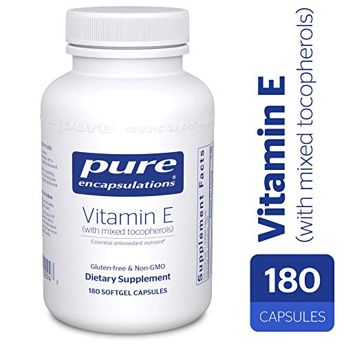 (Pure Encapsulations - Vitamin E (with Mixed Tocopherols) - Dietary Supplement for Proper Cellular and Cardiovascular Functioning* - 180 Softgel Capsules)