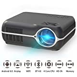 Home Video Projector,Portable Android 6.0 Wireless Home Theater Projector 4200 Lumens WXGA Resolution