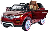 Range Rover Style Premium Ride On Electric Toy Car For Kids - 12V Battery Powered - LED Lights - MP3 - MP4 - RC Parental Remote Controller - Leather Seat - Suitable For Boys & Girls - Red