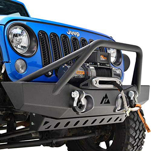 (Sport Front Bumper with Fog Light Holes for 07-18 Jeep Wrangler JK)