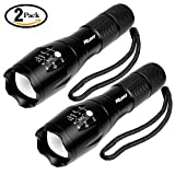 Ruixy Tactical Flashlight 2 Pack -Tac Light Torch Flashlight - As you Seen on THE TV XML T6 - Brightest LED Flashlight with 5 Modes - Adjustable Waterproof Military Grade Flashlight Biking Camping
