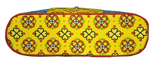 Lalhaveli, Baumwolle, bedruckt mit Damen Designer-Handtasche, Schultertasche