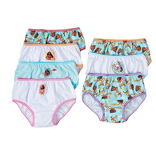 Handcraft Disney Moana Girls Panties Underwear 7-Pack (4T)