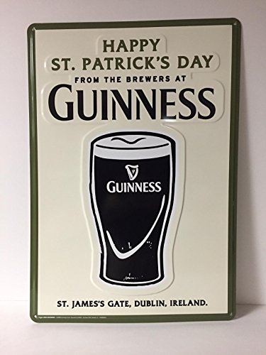 Guinness - Happy St. Patrick's Day - Tin - Metal Sign