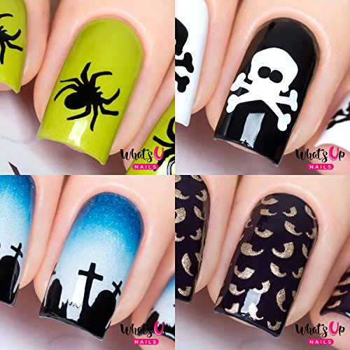 Halloween 4 pack (Graveyard, Spider, Spooky Eyes, (Halloween Nails)