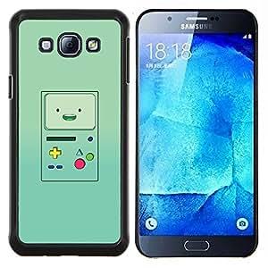 YiPhone /// Prima de resorte delgada de la cubierta del caso de Shell Armor - consola de juegos portátil verde retro - Samsung Galaxy A8 A8000