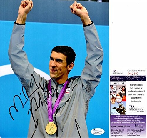 Michael Phelps Signed - Autographed Swimming 8x10 inch Photo - Certificate of Authenticity - JSA Certified