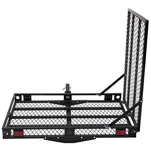 goplus folding wheelchair carrier heavy duty strong hitch cargo carrier mobility scooter loading