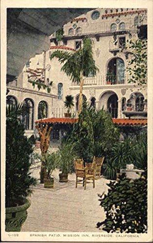 Spanish Patio, Mission Inn Riverside, California Original Vintage Postcard