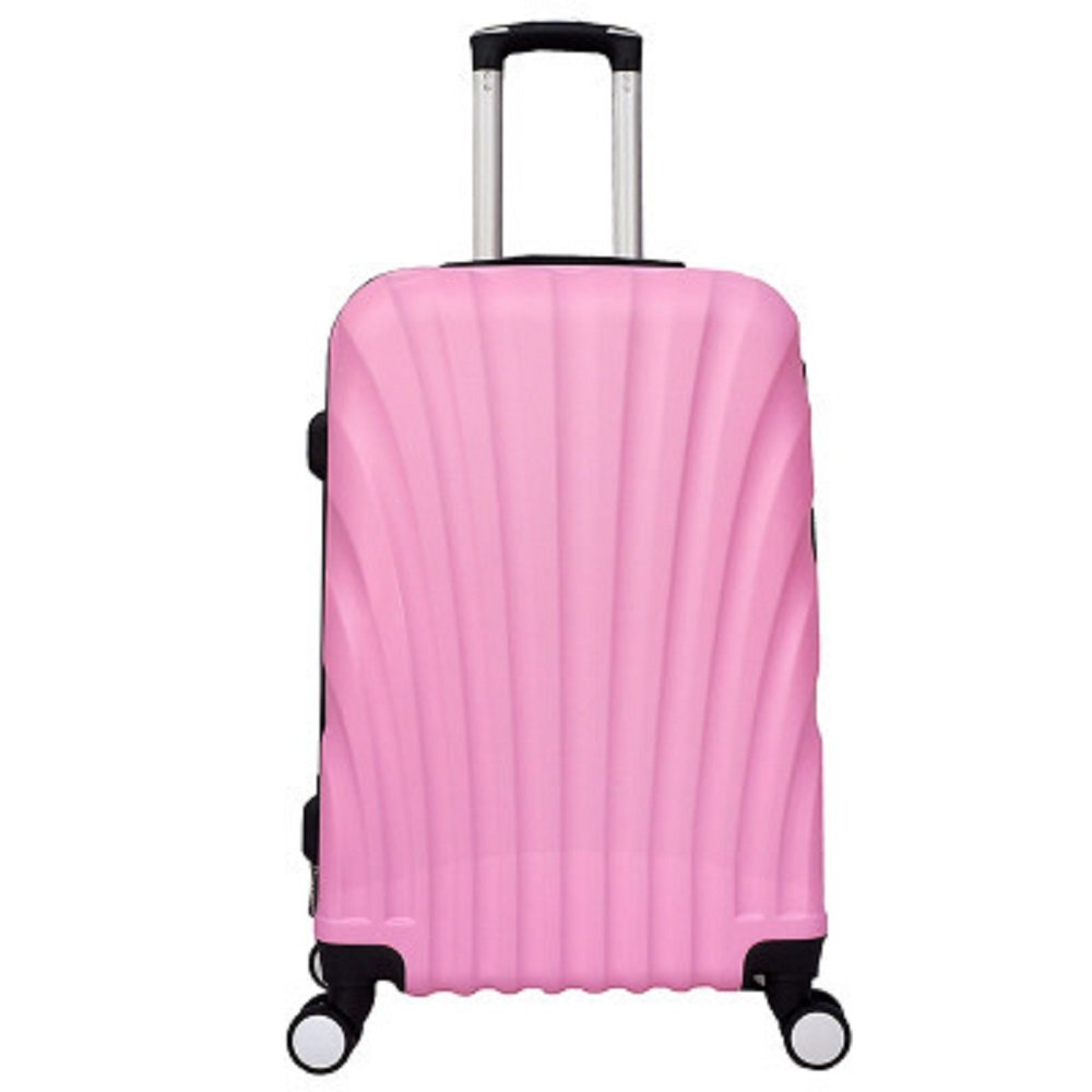EZON-CH 4 Wheel Spinners For Any Derection Environmental Seasheel Design Carry On Plane Trolley Luggage For Travle Work(Pink)(24IN)