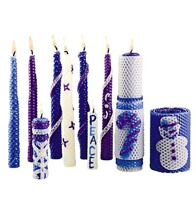 Candle Craft Kit (Winter-Themed Beeswax Candle Rolling Craft Kits)