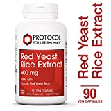 Protocol For Life Balance – Red Yeast Rice Extract 600 mg – Traditional Supplement used for Cardiovascular Support and Healthy Cholesterol Promotion – 90 Veg Capsules For Sale