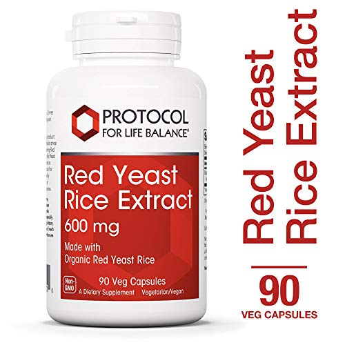 Protocol For Life Balance - Red Yeast Rice Extract 600 mg - Traditional Supplement used for Cardiovascular Support and Healthy Cholesterol Promotion - 90 Veg Capsules