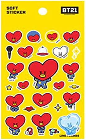 Random STUDIO8 X BT21 BTS Official Merchandise Jelly Sticker by Bangtan Boys TATA Additional BTS PHOTOCARDS Love Yourself