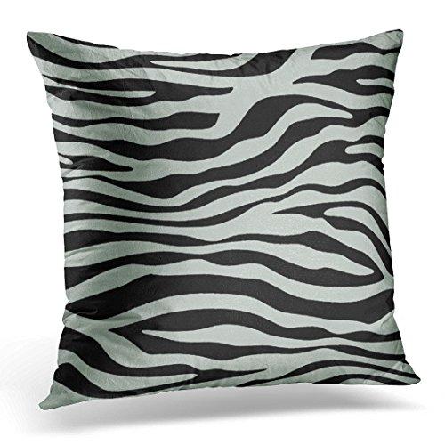 TORASS Throw Pillow Cover Cute Girly Ash Gray Grey and Black Zebra Animal Vintage Bridal Decorative Pillow Case Home Decor Square 20x20 Inches Pillowcase (Gray Zebra)