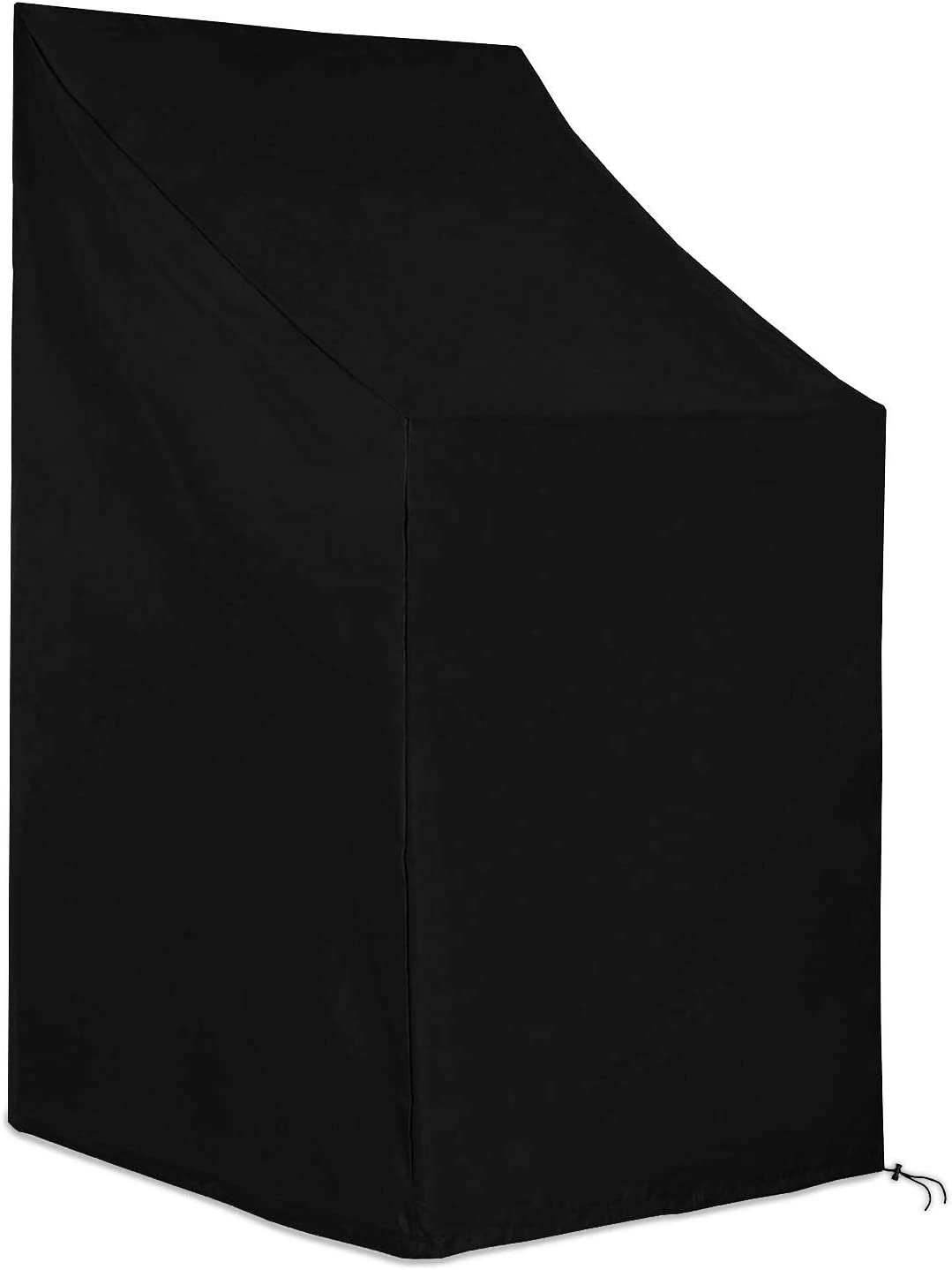 SING F LTD Furniture Chair Cover Black Supply Protection Chaise Dustproof Waterproof Stacking Outdoor Garden Patio 65x65x120/80cm