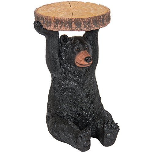 Best Choice Products Decorative Bear Pedestal Patio Side Table Outdoor/Indoor by Best Choice Products