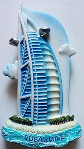 Dubai Burj Al Arab Emirates U.A.E. High Quality Resin 3D fridge Refrigerator Thai Magnet Hand Made Craft.