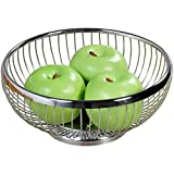 Kesper 90842 Fruit/Bread Basket round 8.66'' of metal, Silver
