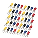 uxcell 40 Pcs SV5.5-5 Pre Insulated U-Type Crimp Terminals AWG 12-10 Wire Connectors