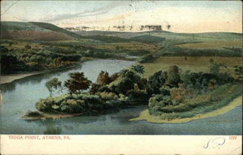 Tioga Point Athens, Pennsylvania Original Vintage Postcard