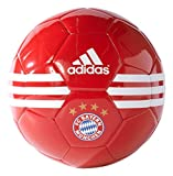 German Bundesliga Bayern Munich Soccer Ball, Size 5, White/Gold Metallic