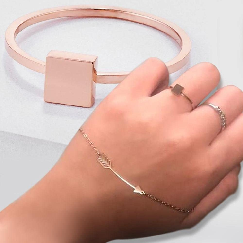 Samie Collection Stainless Steel Stackable Stacking Ring Band in 18K Rose Gold Plating /& Silver Tone