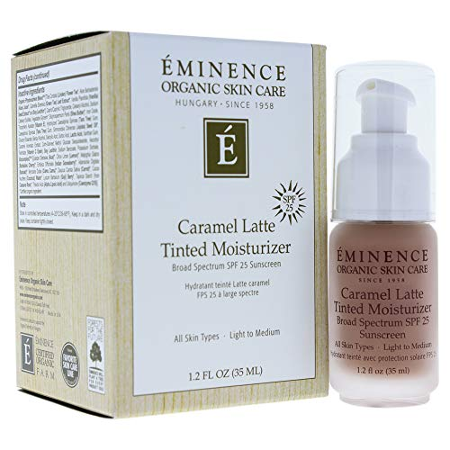 Eminence Caramel Latte Tinted Moisturizer Spf 25 (Light To Medium), 1.2 Ounce (Normal Skin Tinted Moisturizer)