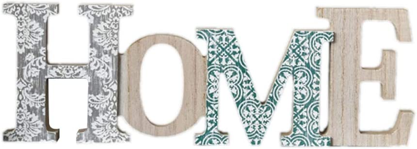 Famille Vosarea Lettre de lalphabet Anglais /à Suspendre D/écoration Murale Nordic Creative Sign D/écor Tabletop Decor Bois Vieilli D/écoupe Mot Art Wood Sitter