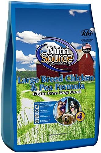 Nutri Source Grain Free – Large Breed – Chicken Pea- 30 Lbs