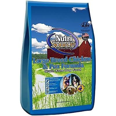 Nutri Source Grain Free - Large Breed - Chicken & Pea- 30 Lbs