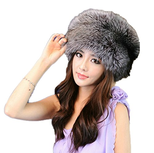 YR Lover Fox Fur Trapper Hats Warm Earmuffs Thicken Beret Caps Snow Cap