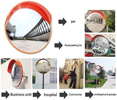 Geng カーブミラー 屋外広角レンズ、ガレージプラスチック凸屋内盗難防止安全ミラー、防止道路交通事故