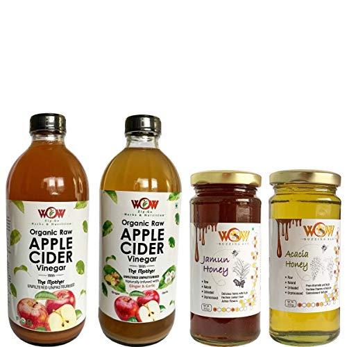 WOW ZIP – GO HERBS & NUTRITION Organic Apple Cider Vinegar (Pack of 2)(500 ml each)