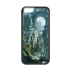 "Custom LiuXueFei Phone caseFairy Village & Cassle For Apple Iphone 6,4.7"" screen Cases -Style-19"