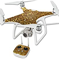 Skin For DJI Phantom 4 Quadcopter Drone – Gold Dazzle | MightySkins Protective, Durable, and Unique Vinyl Decal wrap cover | Easy To Apply, Remove, and Change Styles | Made in the USA