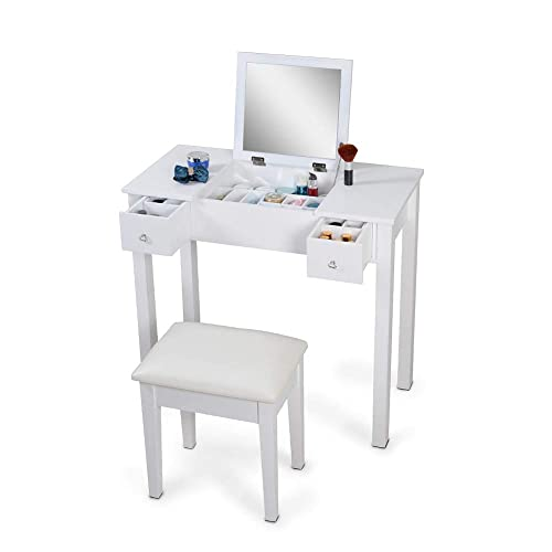 Organizedlife White Vanity Set