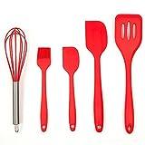 paula deen cast iron pot - Ayutthaya shop 5 pcs / set Silicone Spatula FDA Kitchen Utensils Kitchen utensils Brushes Small brushes Large wooden spatula Turner JSF-Spatulas