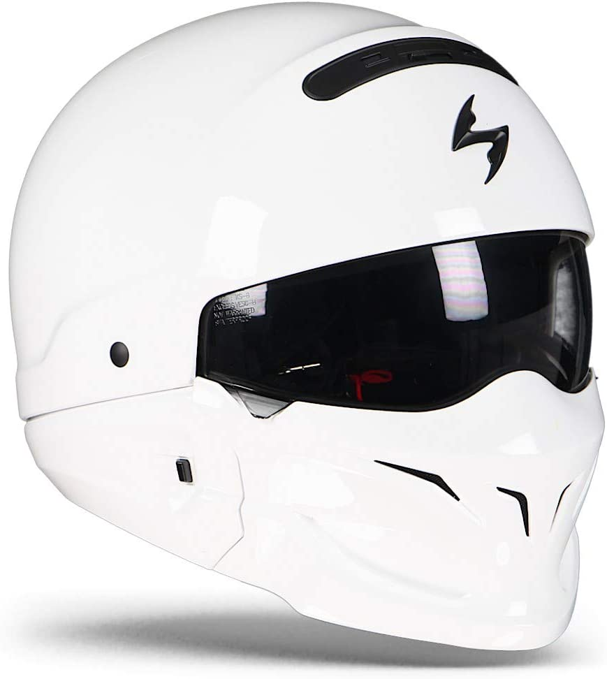 Motorcycle helmets EXO COMBAT Solid White Scorpion