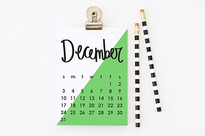 Amazon.com: 2018 Wall Calendar Monthly Hand Lettered Magnetic ...