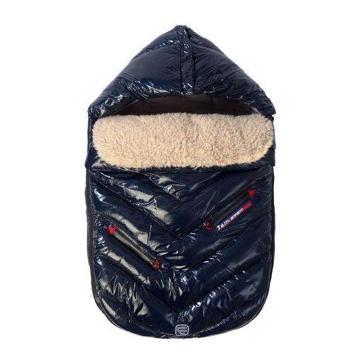 7AM Enfant Polar Igloo Baby Bunting Bag Adaptable for Strollers, Oxford Blue, Medium by 7AM Enfant (Image #4)