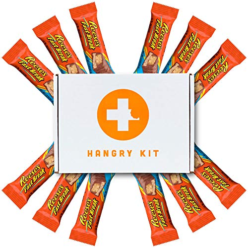 Reeses Fast Break Gift Boxed by Hangry Kits, 12 Pack In Bulk. If You're Looking For Reeses Fast Break Candy Bars To Gift To Someone You Love, Reeses Fast Break Bulk Pack Is Perfect. (Big Pack)