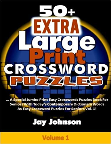 Large Print Crossword Puzzle Books For Seniors Writings And Essays